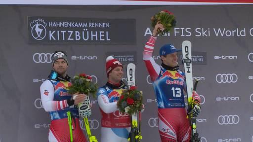 Kitzbühel mit den Vätern der Ski-Stars