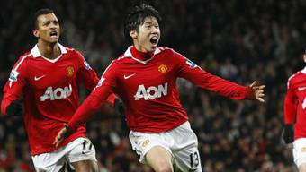 Ji-Sung Park bejubelt das 1:0 gegen Arsenal