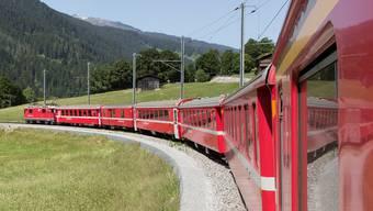 Rhätische Bahn zwischen Klosters und Landquart: Hier sorgt der Kanton Graubünden mit seiner Beteiligung für einen reibungslosen Service public. Keystone