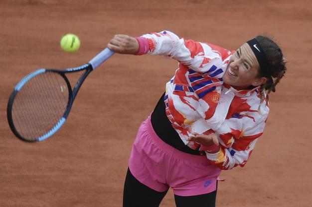 Viktoria Azarenka lebt in Florida. In Paris spielte sie in langer Kleidung.