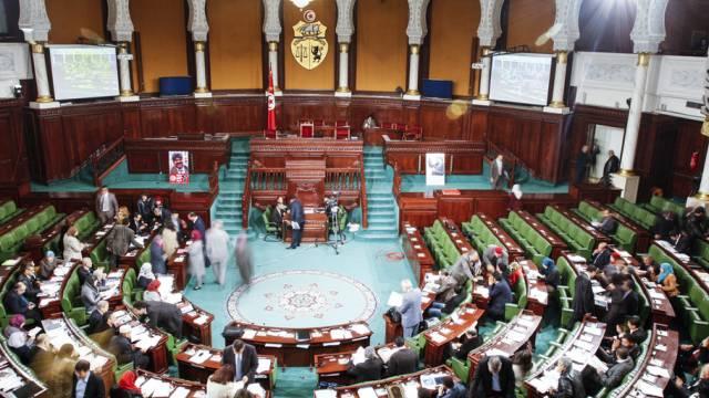 Blick auf die Nationalversammlung Tunesiens