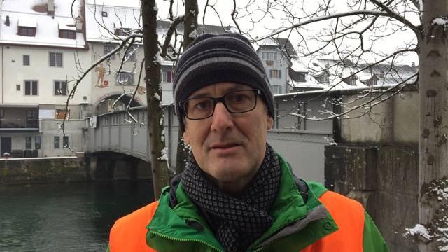 Peter Biehler über den Zustand der Reussbrücke.