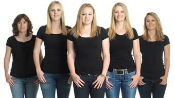 Baden Regio (v.l.): Miriam Ott (Coach), Nadine Lehmann (Third), Alina Pätz (Skip), Marisa Winkelhausen (Second) und Nicole Schwägli (Lead).