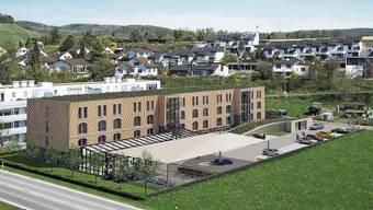 Unweit des AKW Beznau soll das Aparthotel gebaut werden.