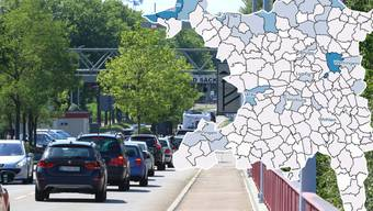 Grenzgänger im Aargau - die interaktive Karte