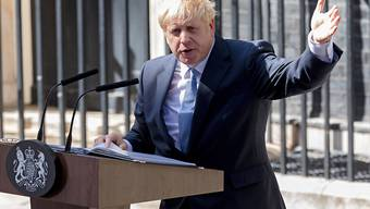 Nach seiner Ernennung zum Premierminister hat Boris Johnson vor seinem neuen Amtssitz in der Londoner Downing Street sein Versprechen wiederholt, Grossbritannien aus der EU zu führen.