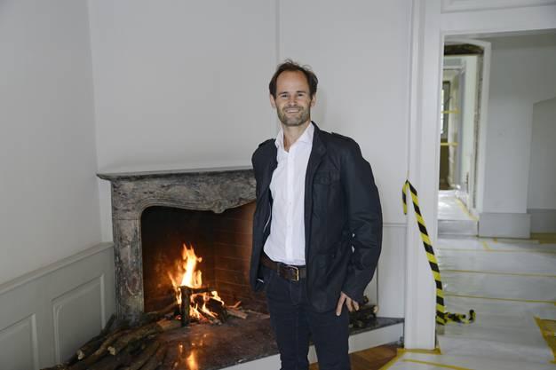 Hausherr Andreas von Roll freut sich über das Interesse.