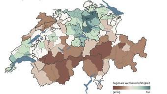 Innerhalb der Schweiz gibts grosse Unterschiede punkto Wettbewerbsfähigkeit, sagt die UBS