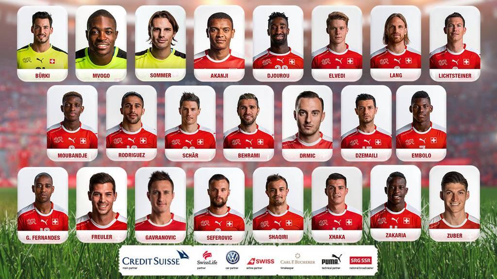 Diese 23 Spieler vertreten die Schweiz an der WM