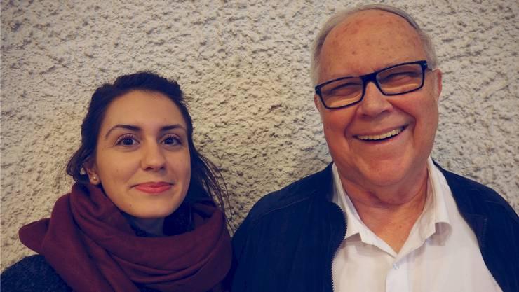 Die Stellenleiterin des Kirchlichen Regionalen Sozialdiensts, Betânia Figueiredo, und der scheidende Kirchenpfleger Fredy Siegenthaler.