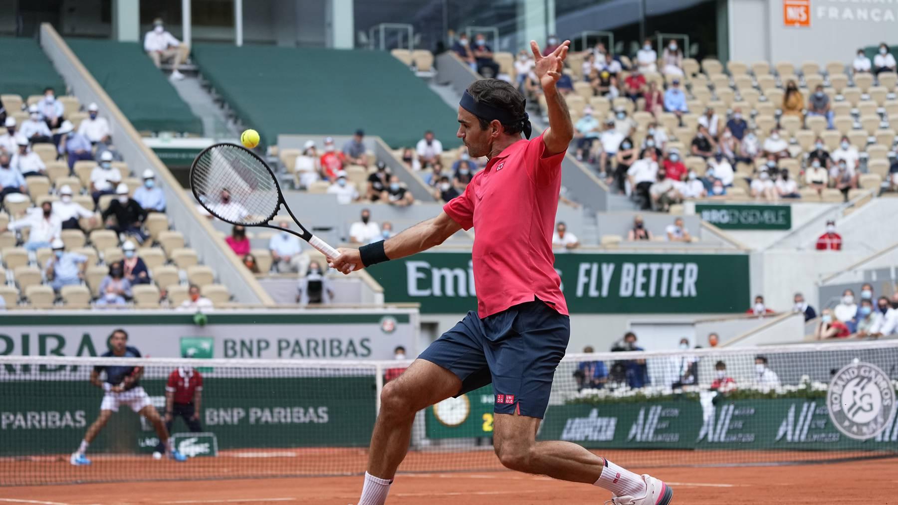 Roger Federer musste in der 2. Runde der French Open über vier Sätze gehen.