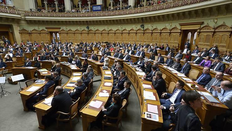 Der Nationalrat während der Eröffnung der neuen Legislatur.