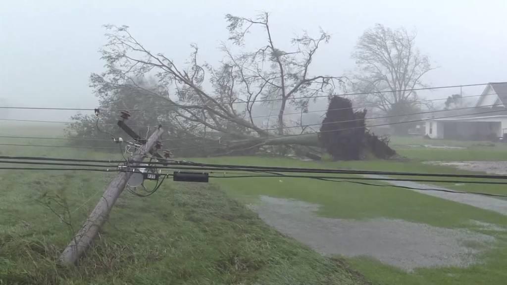 Stromausfälle, Sachschäden und ein Todesfall: Hurrikan «Ida» trifft US-Bundesstaat Louisiana