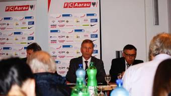 FCA-Präsident Alfred Schmid an der Pressekonferenz