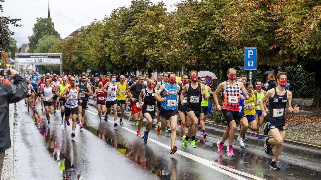 Wenig Zuschauer und mit Masken – Switzerland Marathon light