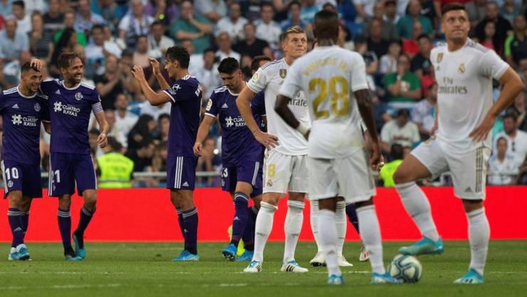 Enttäuschung bei Real Madrid nach dem späten Ausgleich von Valladolid