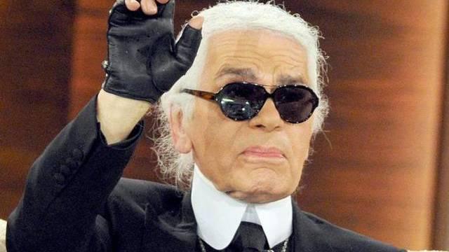 Hat was zu sagen: Karl Lagerfeld als Redaktor in Moskau (Archiv)