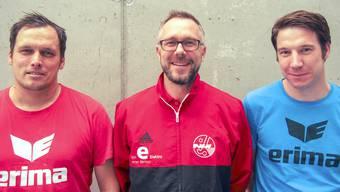 v.l.n.r.: Chris Elste, Peter Fischbach und Michael Kloter, die neue Trainer von Rotweiss Wettingen