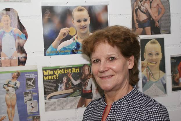 Emmi Schmid - Trainerin der Weininger Turnerinnen.