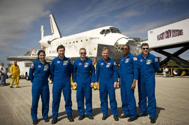 2011 nahm Nicole Stott am letzten Flug der Raumfähre «Discovery» teil.