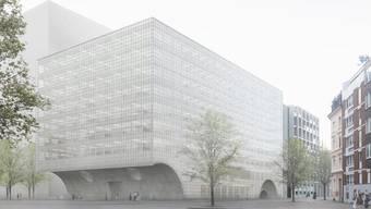 So soll das neue Zentrum für das Departement Biomedizin der Uni aussehen. (Visualisierung)