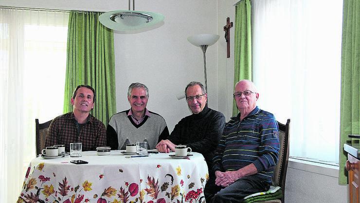 Die «IG Post»: Guido Hueber, Philipp Nanz, Reto Siegrist und Mario Brehm (von links).