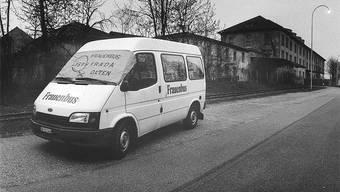 Alles begann 1994 mit dem ersten Frauenbus am Oltner Strassenstrich (Aufnahme von 2002).