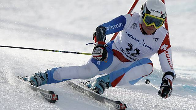 Ein Bild, das der Vergangenheit angehört: Tamara Wolf auf Skiern.