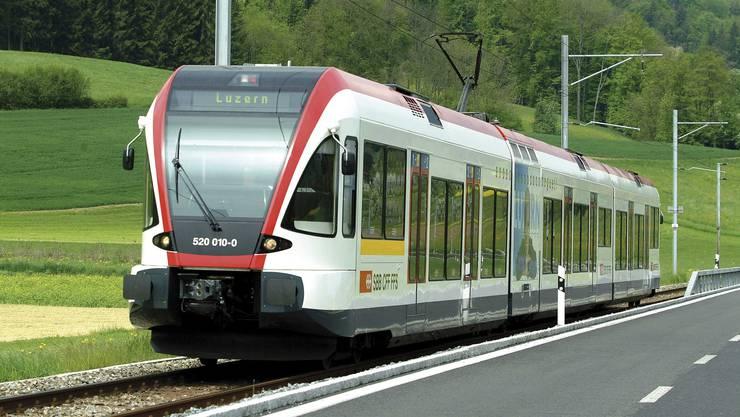 Die Seetalbahn, unterwegs in Richtung Luzern (Archiv)