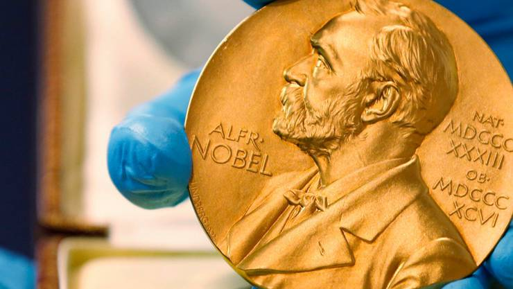 Die begehrte Nobelpreis-Medaille.