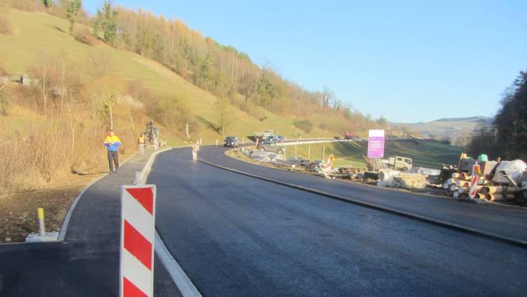 Kommende Woche ist die Kantonsstrasse zwischen Wil und Mettau zwei Tage für den Verkehr gesperrt.