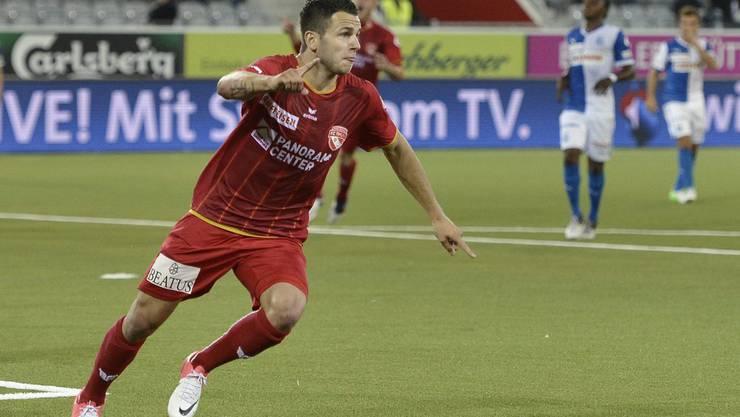 Der Aargauer Renato Steffen in Diensten des FC Thun. Die nächsten drei Saisons unterschrieb der flinke Mittelfeldspieler bei den Young Boys