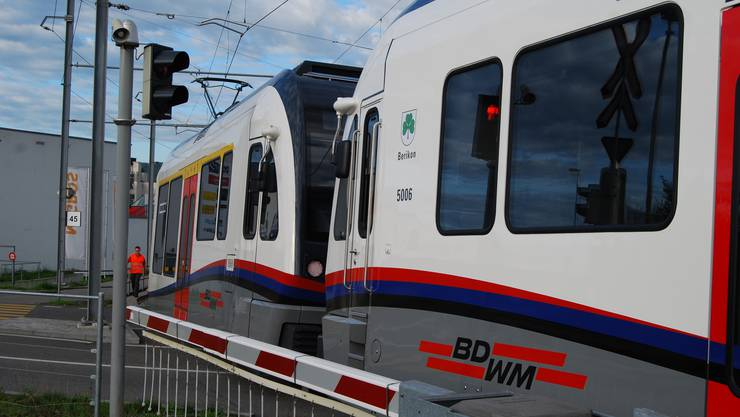Die Bremgarten-Dietikon-Bahn unterwegs.
