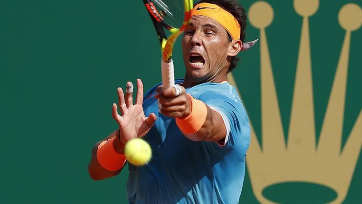 Da nützte aller Einsatz nicht: Rafael Nadal scheiterte in Monte Carlo im Halbfinal