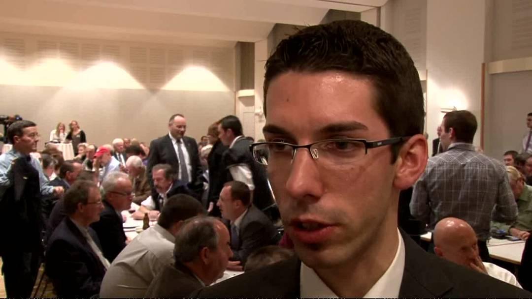 Benjamin Kasper, Präsident der jungen SVP Thurgau, rechnete mit einer Wiederwahl Widmer-Schlumpfs