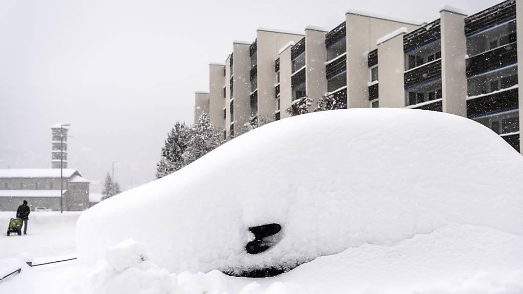 Bis zu einem Meter Neuschnee in der Ostschweiz