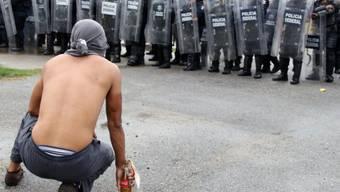 Protest gegen die Staatsmacht in Acapulco