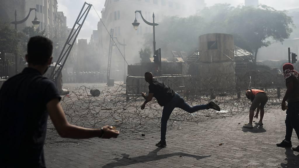 Mindestens 130 Verletzte bei Zusammenstössen in Beirut