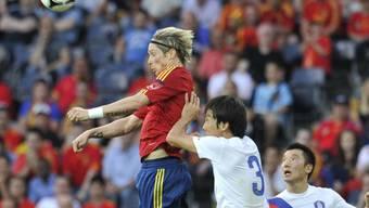 Fernando Torres erzielte in der 12. Minute das 1:0 für Spanien.