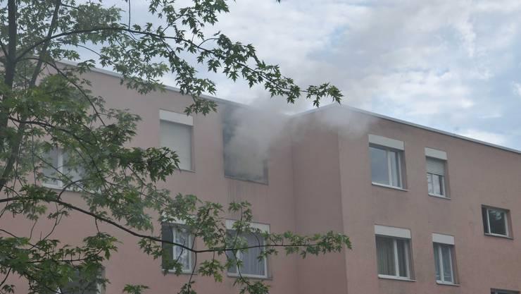 In dieser Zuchwiler Wohnung brannte es