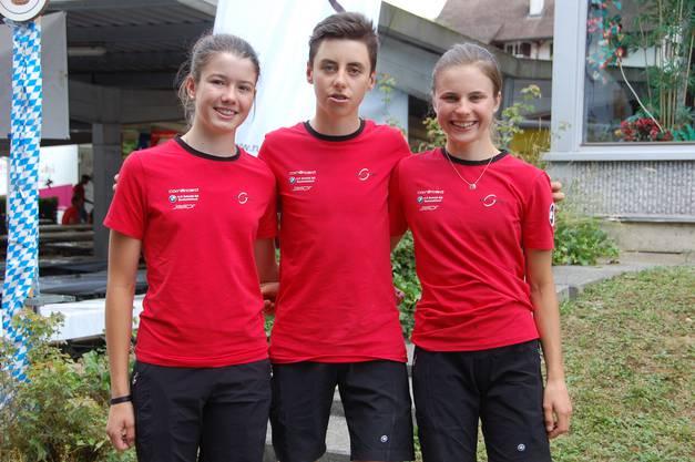 Die drei regionalen Vertreter der U17 Nationalteams: Lea Huber, Jan Christen, Noëlle Rüetschi