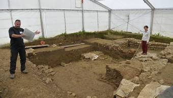 Ausgrabung einer römischen Villa in Port