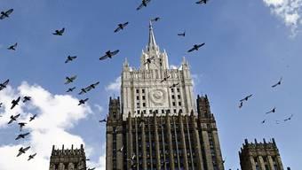Das Aussenministerium in Moskau - eine der so genannten Sieben Schwestern, Hochhäuser, die im Auftrag Stalins im Stil des Sozialistischen Klassizismus erbaut wurden.