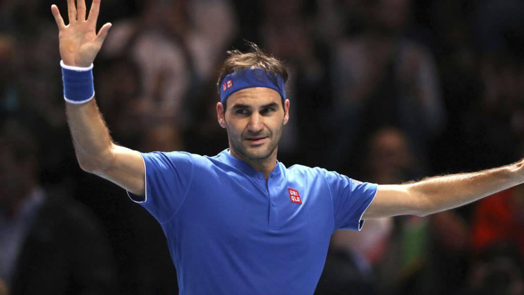 Zufrieden und erfolgreich in London: Roger Federer steht an den ATP Finals zum 15. Mal im Halbfinal