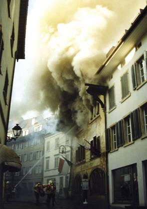 Brand Rathskeller Olten am 15.01.1999