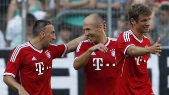 Ribery (links), Robben (mitte) und Müller feiern den Finalsieg