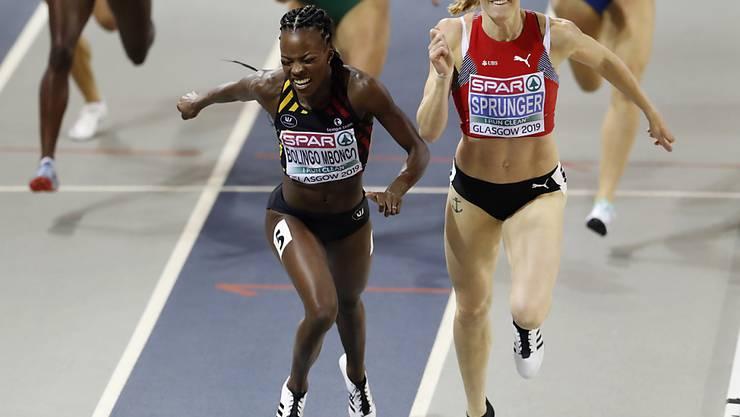 Lea Sprunger liefert sich an der Hallen-EM in Glasgow mit der Belgierin Cynthia Bolingo Mbongo ein Herzschlagfinale um Gold über 400 m - mit dem besseren Ende für die Schweizerin