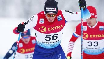Dario Cologna kann im Verfolgungsrennen in Oberstdorf Zeit auf das Tour-de-Ski-Podium gutmachen