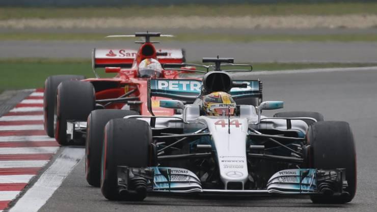 Lewis Hamilton blieb im Qualifying in China vor Sebastian Vettel