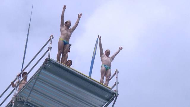 20 Meter hohe Sprünge im Thuner Strandbad?